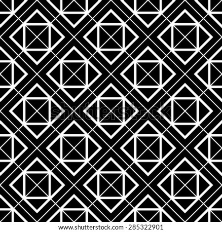 Vector seamless pattern. Abstract stylish background.