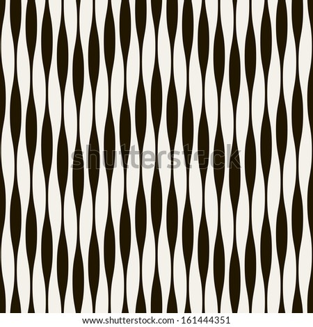 Vector seamless pattern. Abstract stylish background. Repeating monochrome background - stock vector