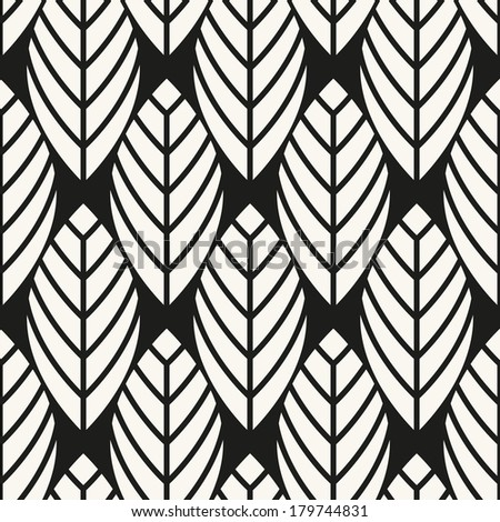Vector seamless pattern. Abstract stylish background with stylized petals - stock vector