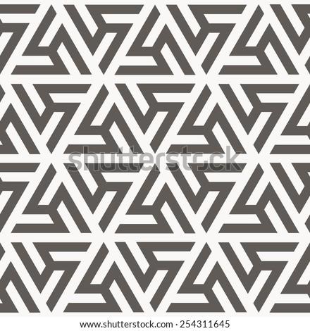 Vector seamless pattern. Arabic geometric texture. Islamic Art - stock vector