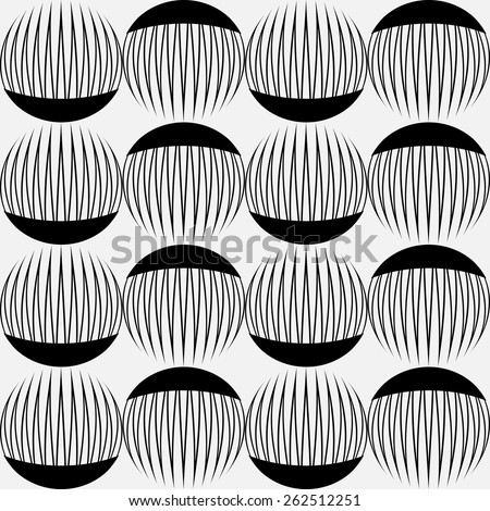 Vector seamless pattern. Black and white geometric stylish background. - stock vector