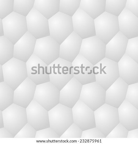 Vector seamless pattern - chaotic modern volume poligonal gray background - stock vector