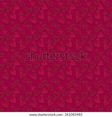 Vector seamless pattern. 3D elements with shadows and highlights.  Elegant luxury  texture for Valentine's Day, printing, wrapping paper, background for wedding invitation or romantic wrapping paper. - stock vector