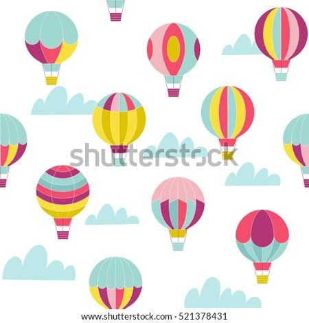 Origami made colorful hot air balloon stock vector for Bright illustration agency