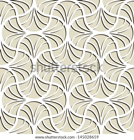 Vector seamless pattern. Delicate textures with volume effect - stock vector