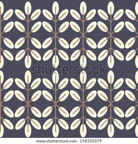 Vector seamless pattern. Floral stylish background. - stock vector