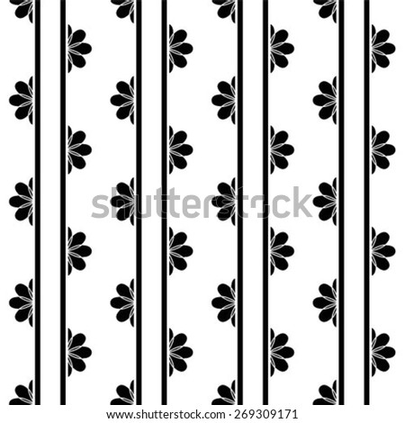 Vector seamless pattern, floral texture. Endless abstract background - stock vector