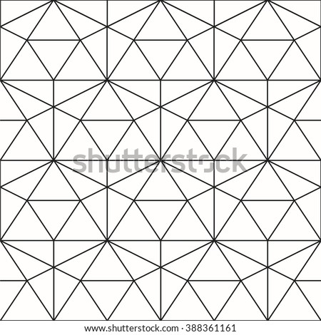 Vector seamless pattern. Geometric background with rhombus and nodes.  Abstract geometric pattern. Gray