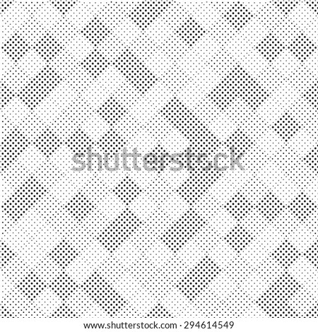 Vector seamless pattern. geometric tiles with dots of different sizes. simple background of perforated rhombus  - stock vector