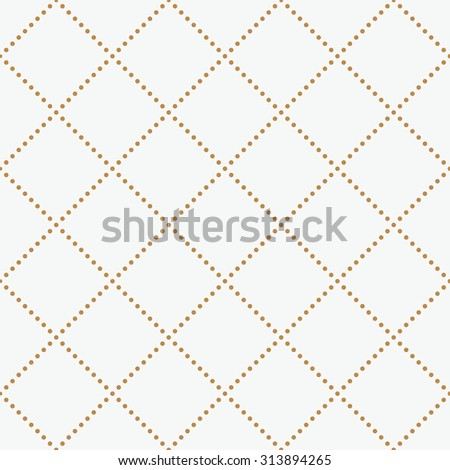 Vector seamless pattern. geometric tiles with rhombuses - stock vector