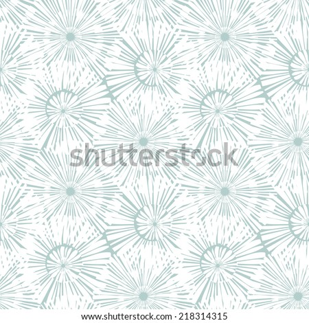 Vector seamless pattern. Hand drawn floral texture. Soft delicate flowers - stock vector