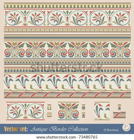Vector seamless pattern in antique style for decoration and design - stock vector