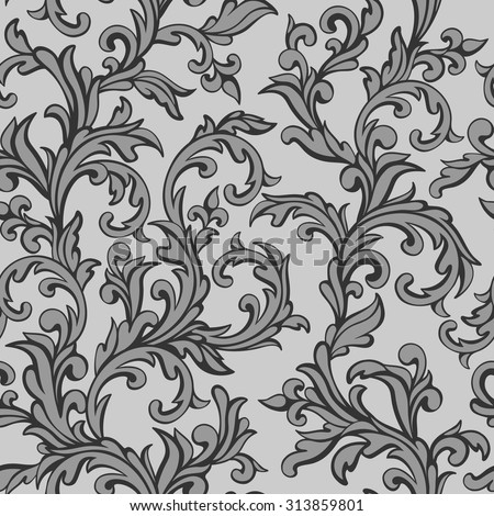 vector seamless pattern in vintage style - stock vector