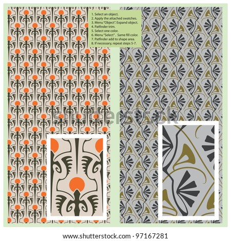 Vector seamless pattern in vintage style for decoration and design - stock vector