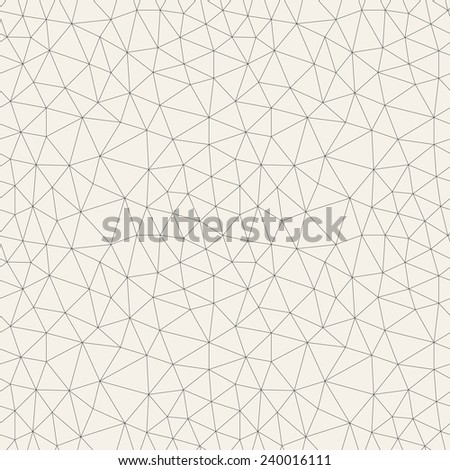 Vector seamless pattern. Irregular abstract linear grid. Graphical hand drawn background. Reticulated monochrome texture - stock vector