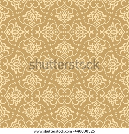 Vector seamless pattern. Luxury elegant floral textures. Pattern can be used as background, fabric print, surface texture, wrapping paper, web page backdrop, wallpaper and more - stock vector