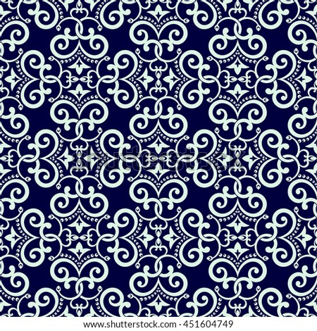 Vector seamless pattern. Luxury elegant texture in east style. Pattern can be used as a background, wallpaper, wrapper, page fill, element of ornate decoration - stock vector