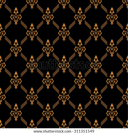 Vector seamless pattern. Luxury gold texture. Pattern can be used as a background, wallpaper or an element of decoration - stock vector