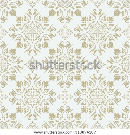 Vector seamless pattern. Luxury stylish texture of Baroque or Damask style. Pattern can be used as a background, wallpaper, wrapper, page fill,  an element of decoration, ornate style - stock vector