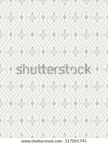 Vector seamless pattern. Luxury stylish texture of baroque style. Pattern can be used as a background, wallpaper, page fill,  an element of decoration, ornate style - stock vector