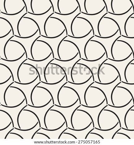 Vector seamless pattern. Modern geometric grid texture. Repeating abstract background with twisted triangular elements. - stock vector