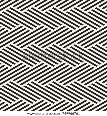 Vector seamless pattern. Modern geometric texture. Repeating abstract background. Polygonal grid with diagonal bold stripes.