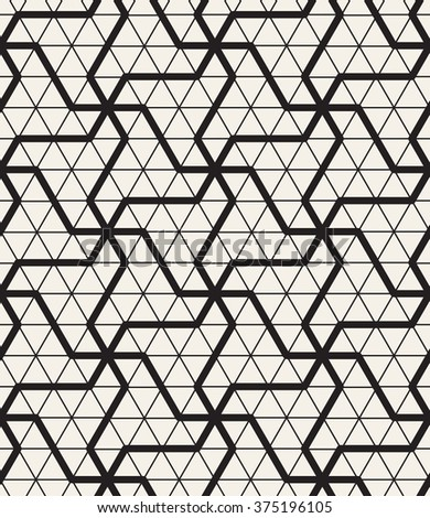 Vector seamless pattern. Modern geometric texture. Repeating abstract background. Polygonal linear trellis on the base of triangular grid. - stock vector