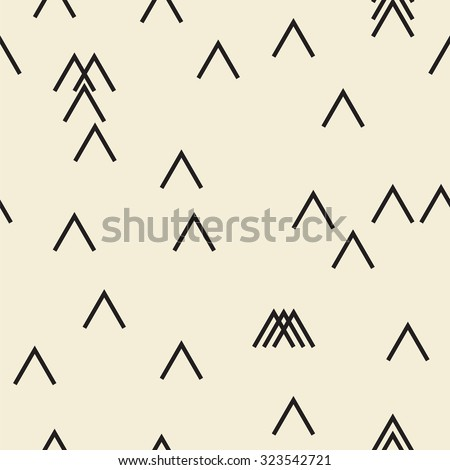 Vector seamless pattern. Modern monochrome geometric background - stock vector