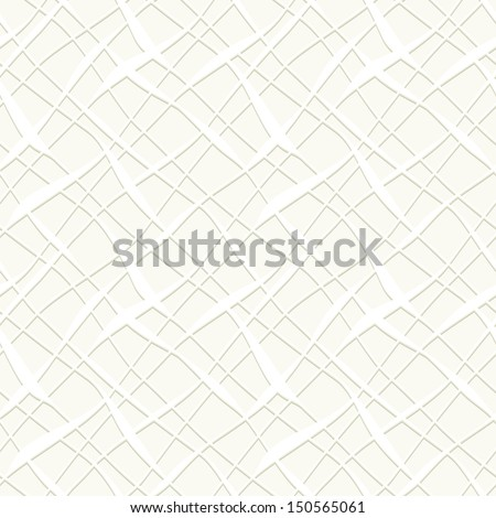 Vector seamless pattern. Modern stylish texture of mesh. Repeating abstract background. Volume effect - stock vector