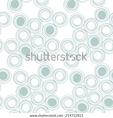 Vector seamless pattern. Modern stylish texture. Repeating abstract background with rings - stock vector