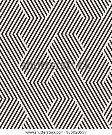 Vector seamless pattern. Modern stylish texture. Repeating geometric background. Striped hexagonal grid. Minimalistic graphic design