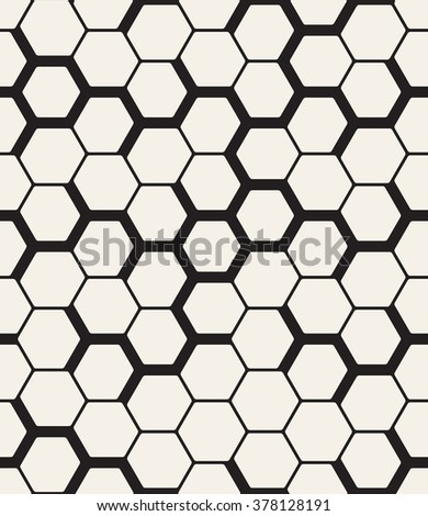 Vector seamless pattern. Modern stylish texture. Repeating geometric background with hexagons.