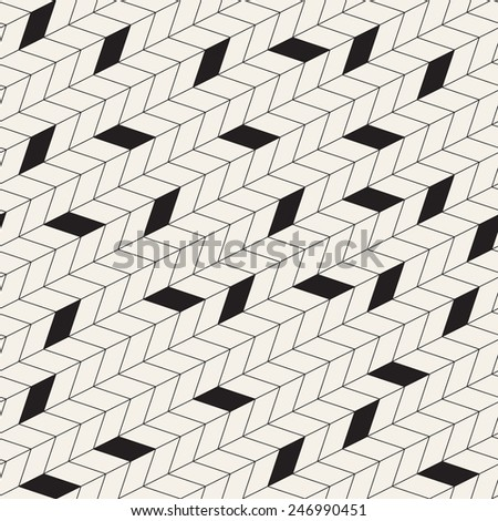 Vector seamless pattern. Modern stylish texture. Repeating geometric background with linear grid. Linear chevron with randomly fillings - stock vector
