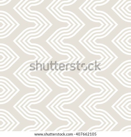 Vector seamless pattern. Modern stylish texture. Repeating geometric background with striped curved creative zigzag. - stock vector