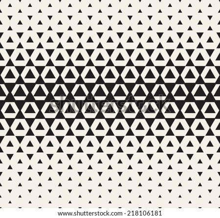 Vector seamless pattern. Modern stylish texture. Repeating geometric tiles. Halftone from triangles - stock vector