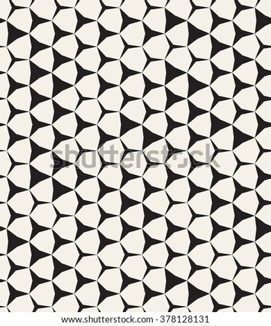 Vector seamless pattern. Modern stylish texture. Repeating geometric tiles. Hexagonal grid with stars. - stock vector
