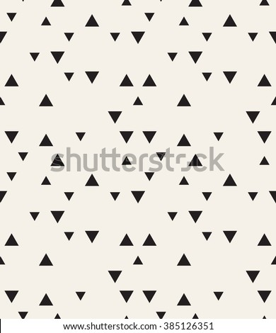 Vector seamless pattern. Modern stylish texture. Repeating geometric tiles. Hipster simple design with randomly disposed triangles. - stock vector