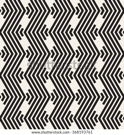 Vector seamless pattern. Modern stylish texture. Repeating geometric tiles. Linear grid with striped zigzag. Geometric background. Contemporary graphic design.