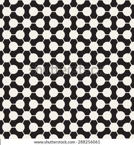 Vector seamless pattern. Modern stylish texture. Repeating geometric tiles. Monochrome geometric background. - stock vector