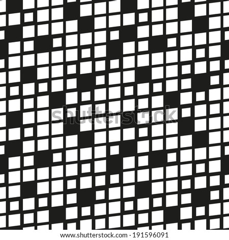 Vector seamless pattern. Modern stylish texture. Repeating geometric tiles. Rotated grid with curved squares