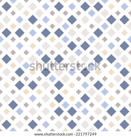 Vector seamless pattern. Modern stylish texture. Repeating geometric tiles with colorful rhombuses
