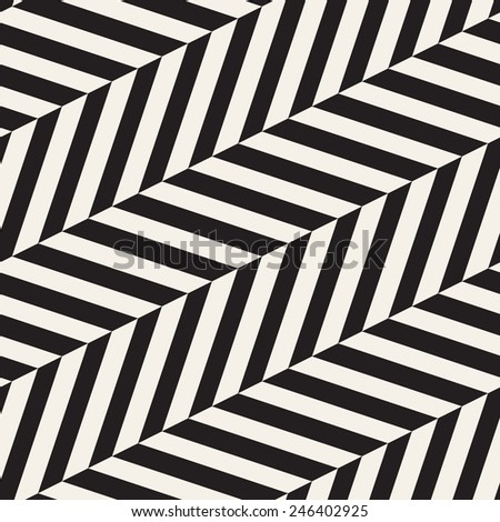 Vector seamless pattern. Modern stylish texture. Repeating geometric tiles with diagonal zigzag or herringbone - stock vector