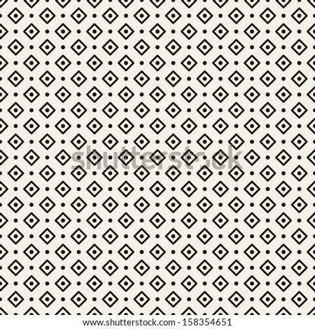 Vector seamless pattern. Modern stylish texture. Repeating geometric tiles with dotted rhombuses - stock vector
