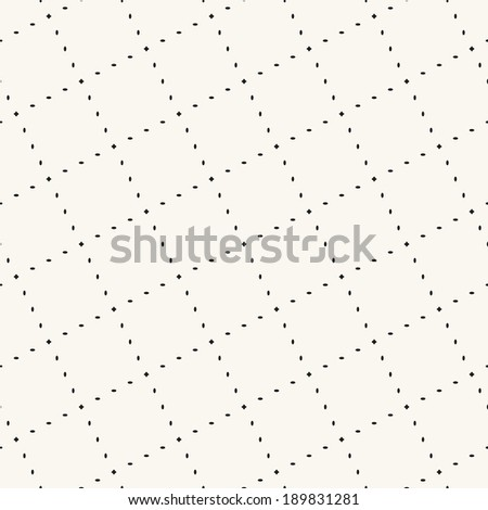 Vector seamless pattern. Modern stylish texture. Repeating geometric tiles with dotted rotated rhombuses - stock vector