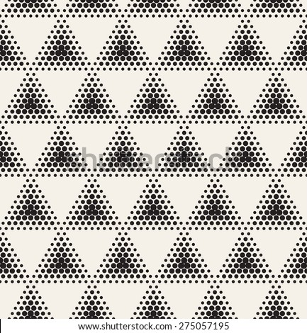 Vector seamless pattern. Modern stylish texture. Repeating geometric tiles with dotted triangles. Modern simple graphic design. Hipster trendy print.