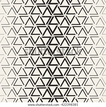Vector seamless pattern. Modern stylish texture. Repeating geometric tiles with halftone from triangles. - stock vector