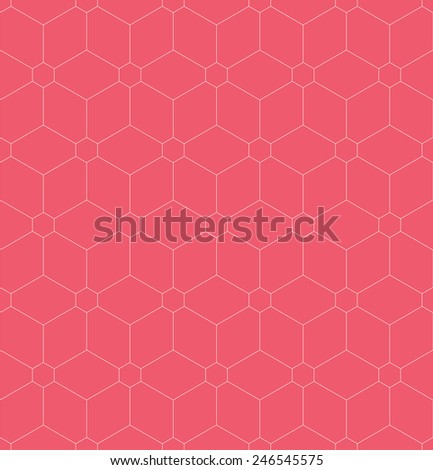 Vector seamless pattern. Modern stylish texture. Repeating geometric tiles with linear hexagons - stock vector