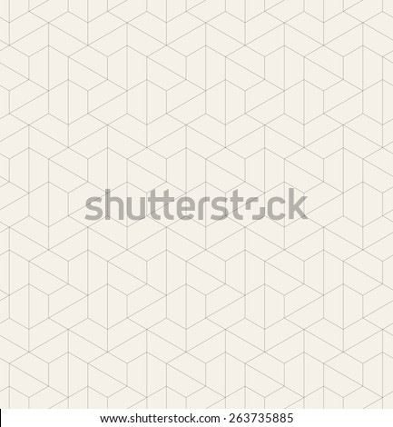Vector seamless pattern. Modern stylish texture. Repeating geometric tiles with linear hexagons. Contemporary graphic design. - stock vector