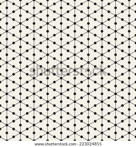 Vector seamless pattern. Modern stylish texture. Repeating geometric tiles with linear triangles and circles