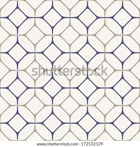 Vector seamless pattern. Modern stylish texture. Repeating geometric tiles with smooth entwined rhombuses - stock vector